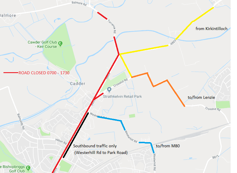Road Closures HMP Low Moss