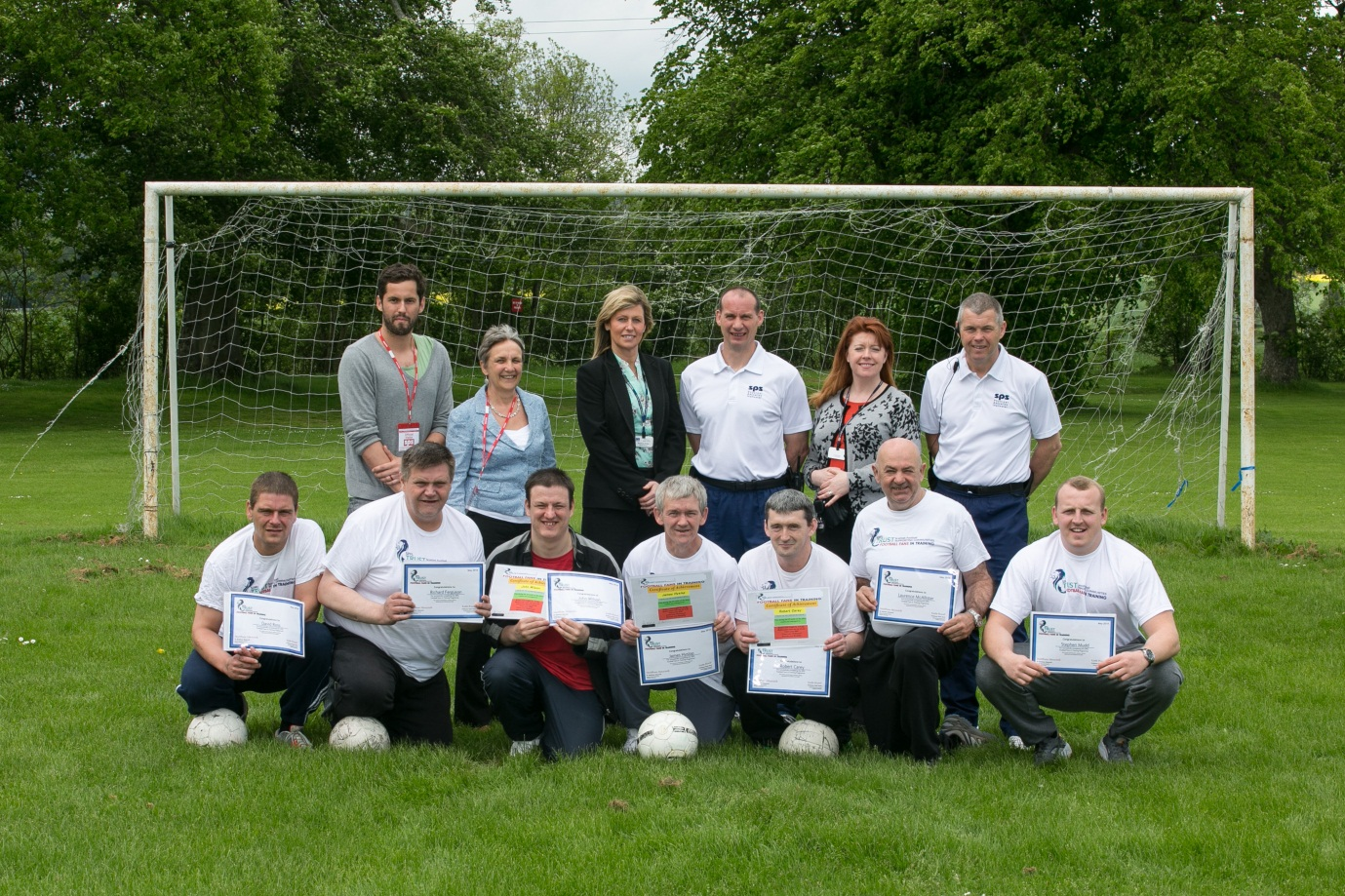 Castle Huntly hosts Football Fans in Training